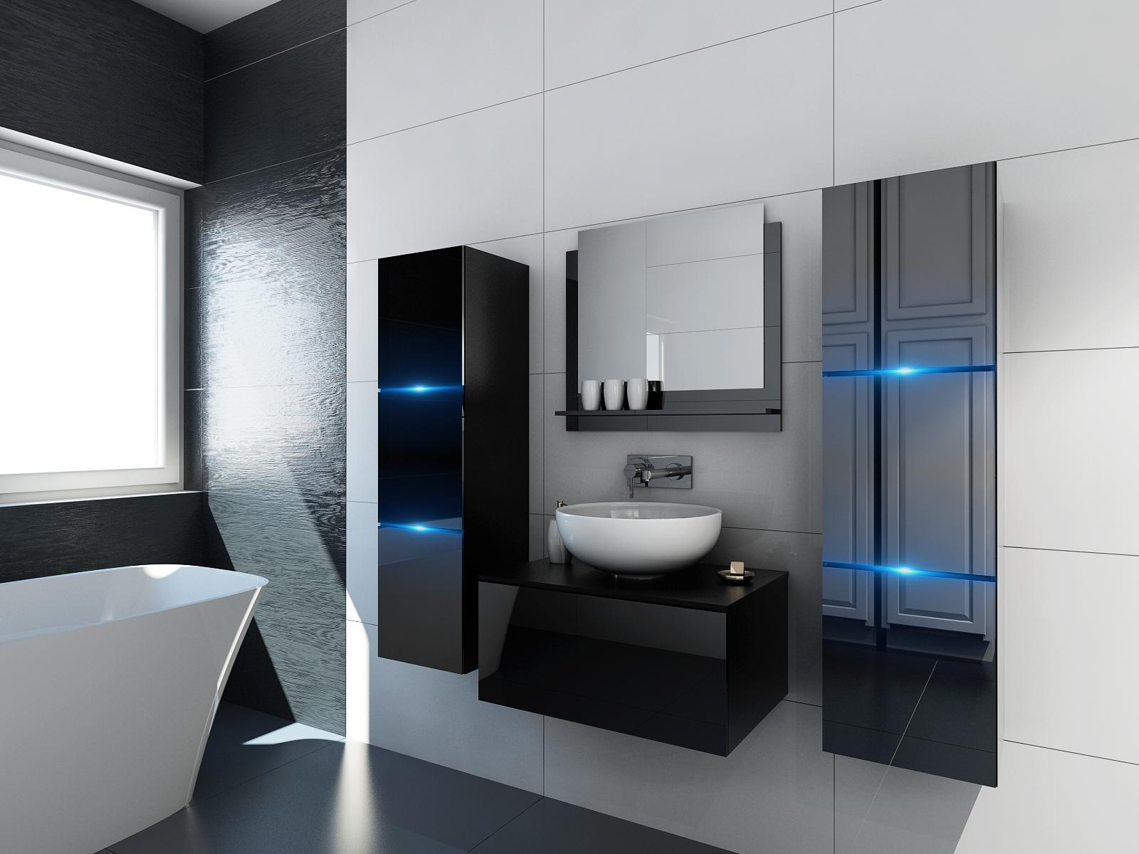 Schwarze Möbel für Badezimmer ohne Waschbecken – Like 21